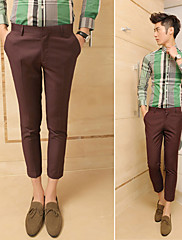 Základní pánské multi-barevné oříznuté kalhoty