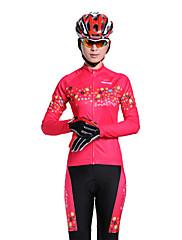 Mysenlan 女性用 長袖 バイク 洋服セット 保温 防水ファスナー フロントファスナー 耐久性 高通気性 ポリエステル サイクリング/バイク