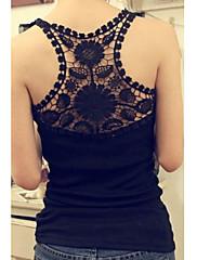 Lace Lotus Leaf Collar Top (Bust :86-102cm obvod pasu :58-79cm Hip :90-104 cm Délka: 62 cm)
