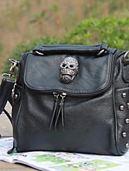 Západní Stylový Punk Skull & Rivet Crossbody Messenger Bag