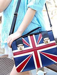 Britský módní styl Kontrast Barva Tote
