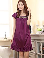 dámské fialové Elegantní komfortní košilky krajkové falbala & šaty