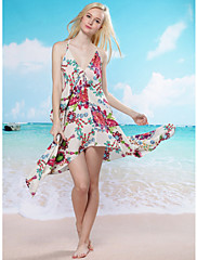 Hluboce V Neck Beach Cover-up