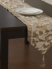Tradiční Beige Print Classic Floral bavlna Tabulka Runner