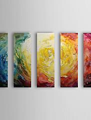 Ručně malované Abstraktní Horizontálně,Moderní Pět panelů Hang-malované olejomalba For Home dekorace