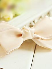 Elegantní kůže Barva saténovou mašlí 12cm Classic Lolita Barrette