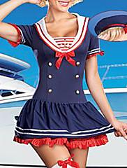 セクシーな航海ガール青いドレス海軍制服