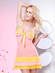 Candy styl vrstvené volánky uklonil Babydoll