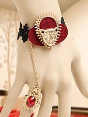 Leopard Totem červená a černá krajka Punk Lolita Ring náramek