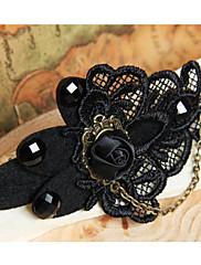 Gothic Upír Black Rose a krajky Ruční sponka do vlasů