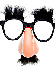 ひげと眉毛が付いているおかしいプラスチックメガネ