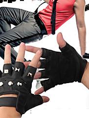リベットとのハーフフィンガーハロウィーンパンク手袋