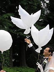decoración de la boda de la paz paloma blanca del globo - conjunto de 6