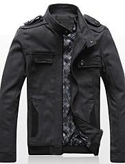 Xingke Pánské Warm Komfortní Tweed Coat (Gray)