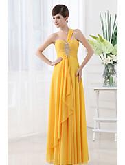 Lady Antebellum Nádherné korálky rameno Asymetrické šaty