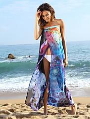 ファッションフローラルプリントビーチマキシドレス