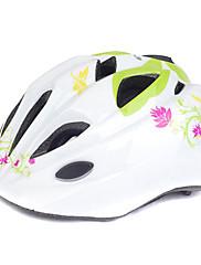 MOONサイクリングキッズグリーングラスホワイトPC +のEPSローラースケート/自転車保護用ヘルメット