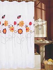 """カーテンフラワー&バタフライ """"×L71""""厚い生地防水W71を印刷シャワー"""