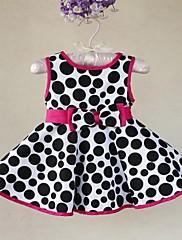 Dívčí krátký rukáv Dot Cotton Dress