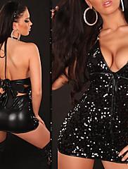 S hlubokým výstřihem Hluboce V Seductive Girl Noční klub Sexy Party Uniform (pro velikost M)