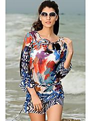 Módní Bohemia Print Swim šaty