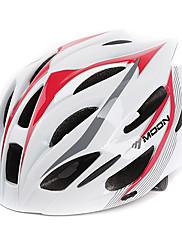 満月サイクリングPC + EPS 21ベントスーパーライトホワイト+レッド自転車/バイクヘルメット