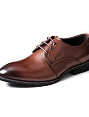 レザーメンズフラットヒールコンフォートオックスフォード靴レースアップ(その他の色)で