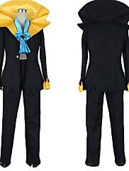 Inspirovaný One Piece Brook Anime Cosplay kostýmy Cosplay šaty Barevné bloky Czarny Kabát / Kalhoty / Kravata