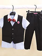Směs polyesteru a bavlny Oblek pro mládence - 4 Pieces Obsahuje Tričko / Vesta / Kalhoty / Motýlek