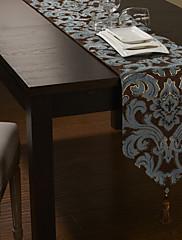 ヨーロッパスタイルのシェニールコットン/ポリテーブルランナー