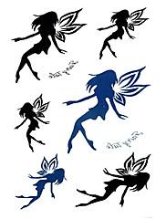 5 ks Fairy Vodotěsné Dočasné tetování (10,5 cm * 20,5 cm) HM571
