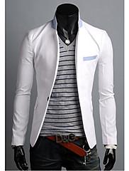 Wshgyy Pánské korejský volný čas s dlouhým rukávem Thin White Coat