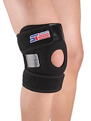 Knee Brace Sports Support Easy dressing Adjustable Climbing Camping & Hiking Running Black
