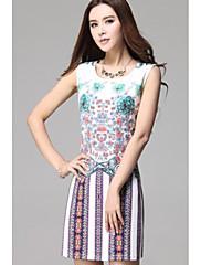 TS Simplicity Vytisknout Slim Cut šaty