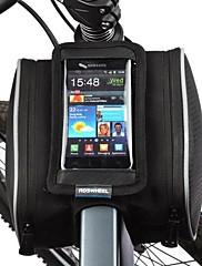 Cyklistická taška 1.8LBrašna na rám Mobilní telefon Bag Odolné vůči prachu Dotyková obrazovka Taška na kolo PU kůže Polyester PVCTaška na