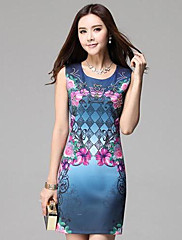TS Diamon Floral Simplicity Slim Cut Print Dress