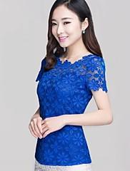 Dámská korejský New Style s krátkým rukávem krajka halenka
