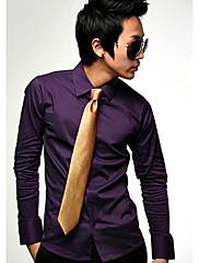 S & M Pánské Korean Style Solid Color Shirt C16 Purple