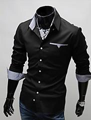 S & M Pánské pláště Long Sleeve Shirt 5907 Black