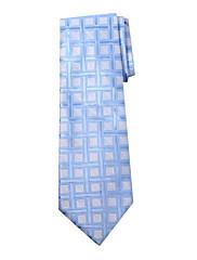 Pánské modré Gird design Silk Tie Long