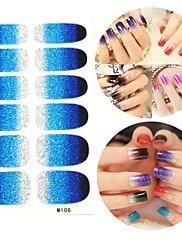 28PCS Glitter Gradient Ramp Nail Art Samolepky M Series No.108