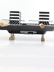 Ocelové domácnost pole Milovníci Portable Charcoal Grill, 43x39x19cm