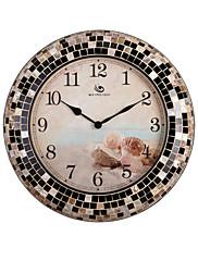 """18.4 """"H Modern Style Shell vzor Golden hrany Polyresin Nástěnné hodiny"""