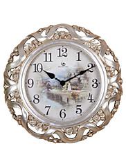 """22.8 """"H Classic květinové a Silk Embossed Silver Polyresin Nástěnné hodiny"""