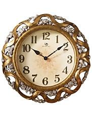 """22.8 """"H Classic Vintage Floral Pattern Polyresin Nástěnné hodiny"""