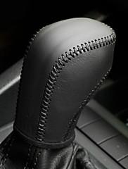 XuJi ™ Crna prave kože ručica mjenjača Cover za Volkswagen VW Golf 6 Passata Tiguan Polo Automatic