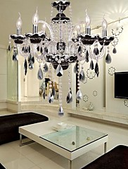 6 Lights,New Style European Crystal Chandelier,Glass & Crystal