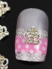 10ks 3d kamínky slitina korunka pro konečky prstů nail art zdobení
