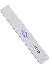 1ks 18cm stříbrný obdélník tvaru smirkový nail art soubor