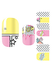 yemannvyou®14pcs karikatura boom módní nail art samolepky